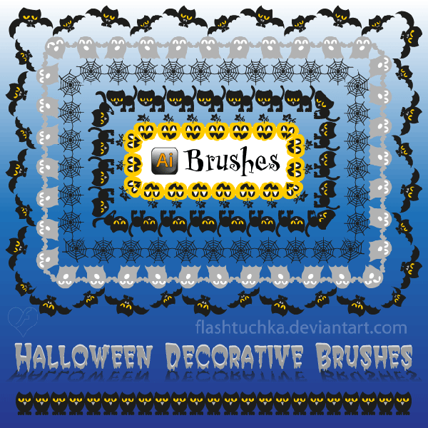 Halloween Illustrator Brushes