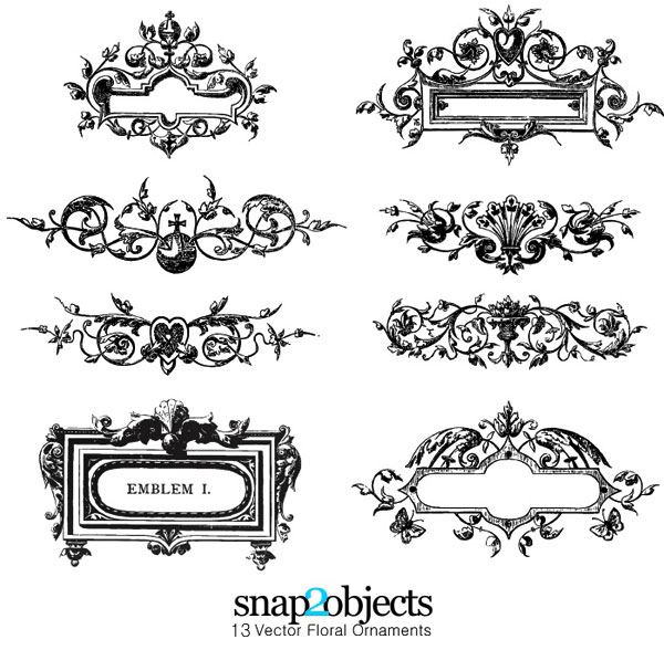 free floral ornaments vector pack download free vector art free rh free vectors com vector for free net vectors free icons