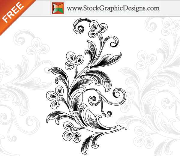 Beautiful Floral Free Vector Art Illustration