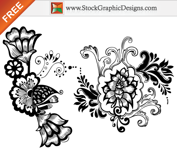 Beautiful Floral Free Vector Art Designs Download Free Vector Art Free Vectors