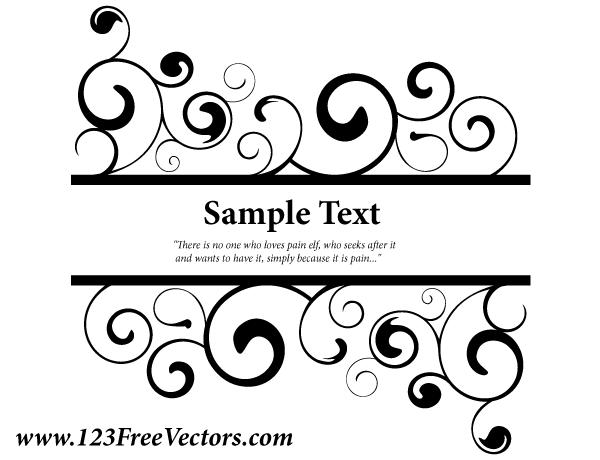 0e2b856bfe2 Vector Ornate Swirl Banner