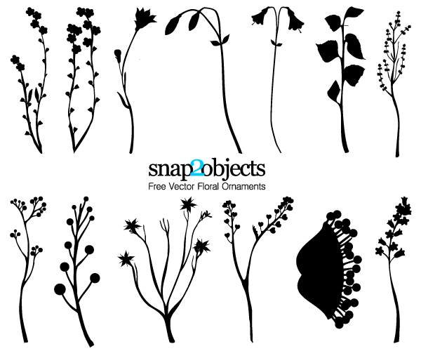 Foliage Ornaments Free Vector Pack