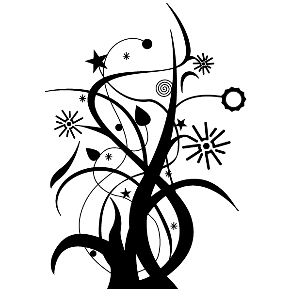 Swirl Floral Design Vector Free Download Free Vector Art Free