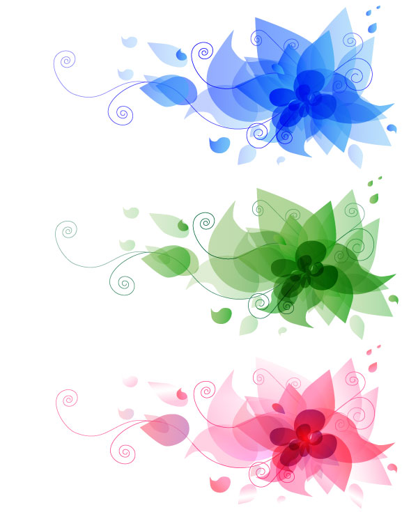Free Abstract Flower Design Vector