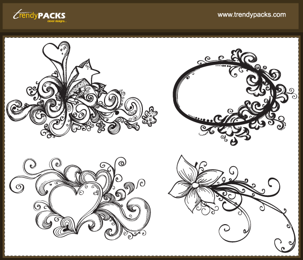 Free Vector Hand Drawn Ornaments
