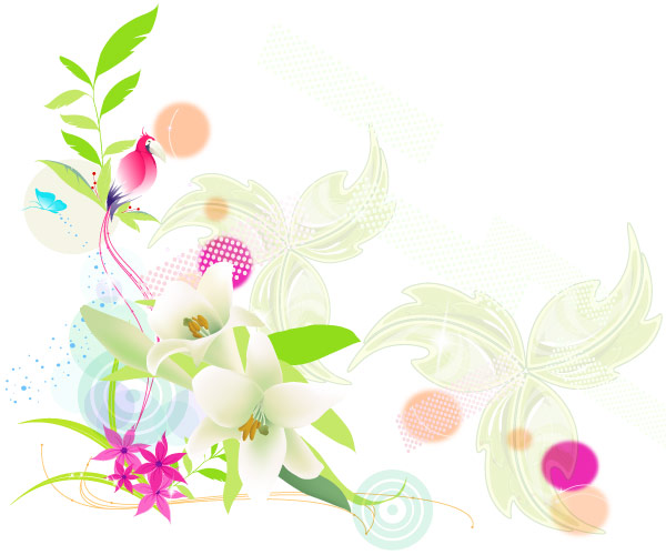 Vector Colorful Floral Design