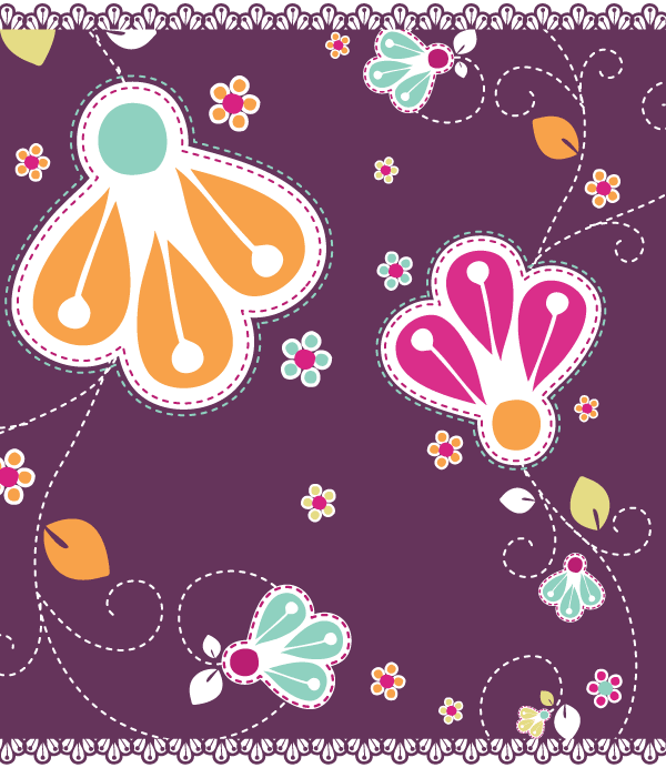 Vector Romantic Flowers