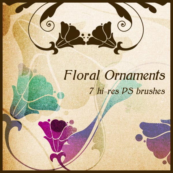 Vector Floral Ornaments and Photoshop Brushes