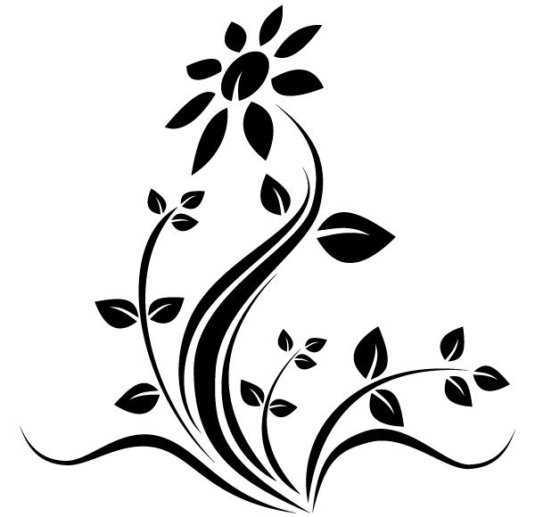 vector flower tattoo design download free vector art free vectors. Black Bedroom Furniture Sets. Home Design Ideas