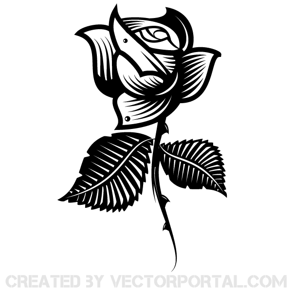 Vector Clip Art Rose Image
