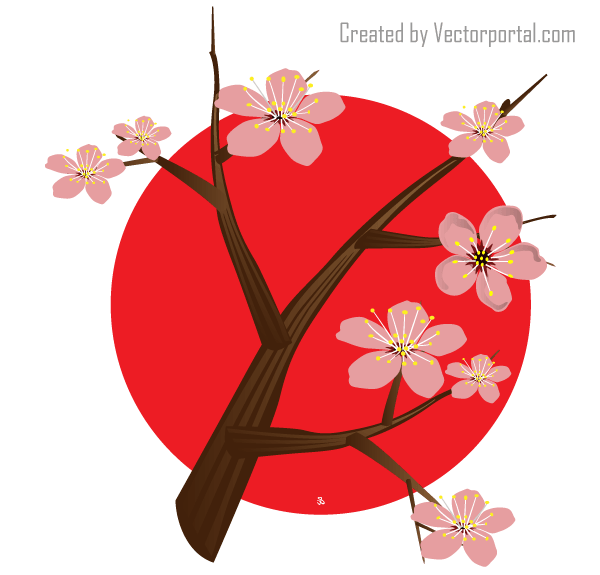 Vector Japanese Cherry Blossom