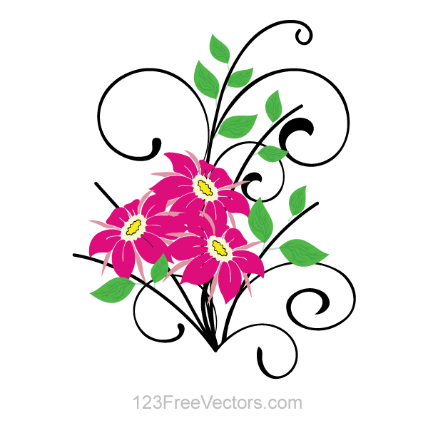 flower bouquet vector clip art download free vector art free vectors rh free vectors com flower bouquet images clipart clipart pictures of flower bouquets
