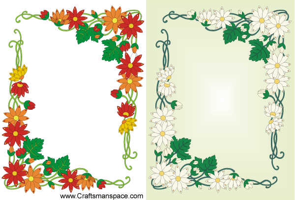 Floral Frame Design in Art Nouveau Style | Download Free Vector Art ...