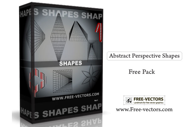 Abstract Perspective Shapes Free Vector Pack