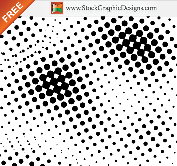 Circle Halftone Free Vector Art Image