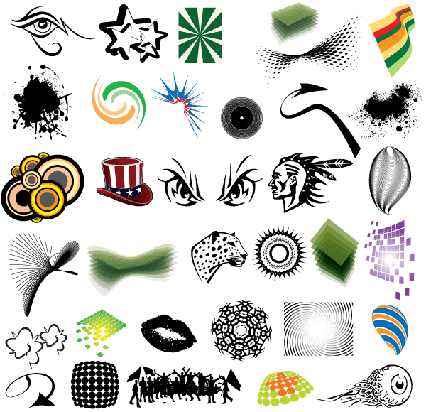 free clip art elements vector pack download free vector art free rh free vectors com vector art freeware vector art free for commercial use