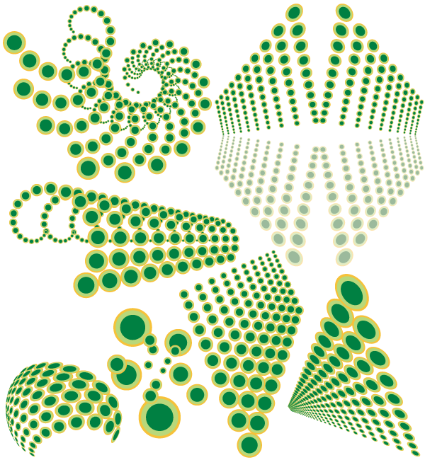 Free Vector Abstract Swirl Dots Designs Elements