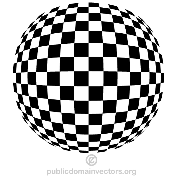 Checkered Spherical Shape Vector