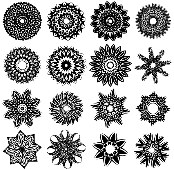 Tattoo Designs Vector Free Download: Vector Tribal Flower Tattoo Designs