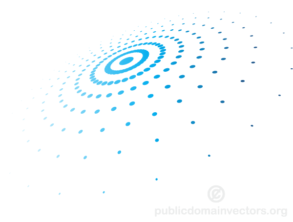 Abstract Circular Halftone Pattern Vector   Download Free