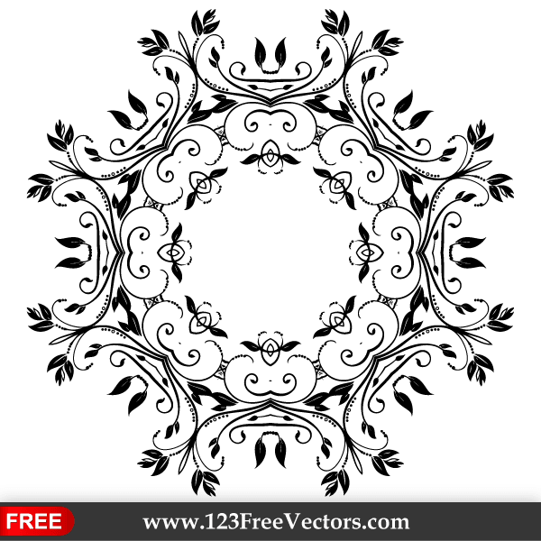 Vector Abstract Floral Decorative Element