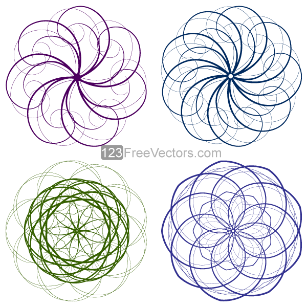 Vector Circle Decorative Design Elements Set-4