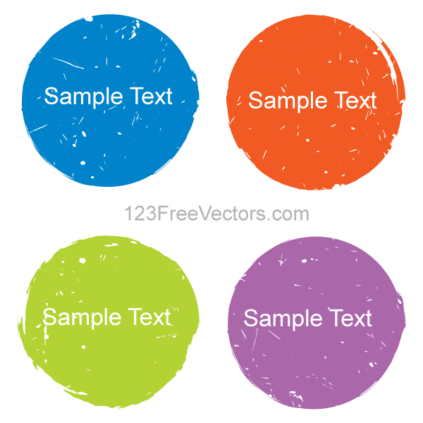 Color Grunge Circle Design Elements Vector