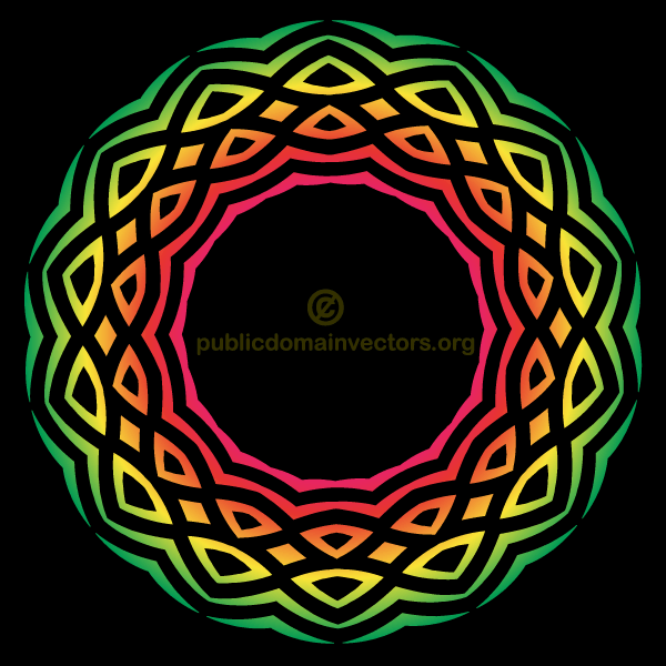 Vector Color Tribal Element