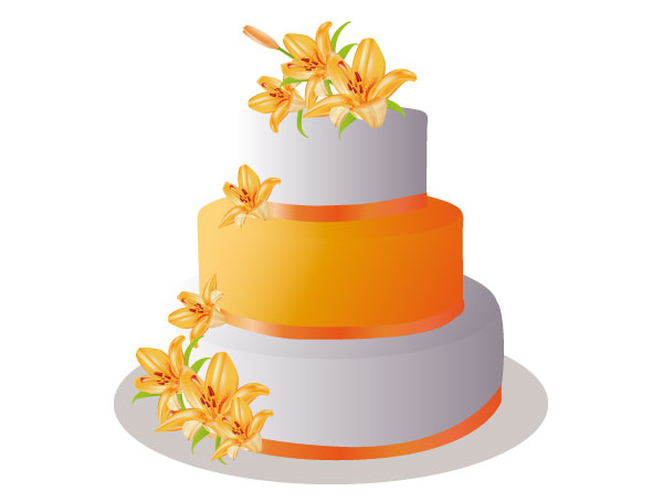 Vector Pastel Cake Image
