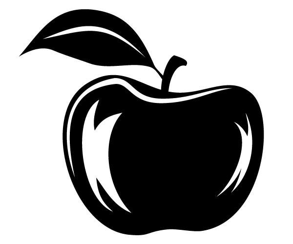 Apple Vector Silhouette