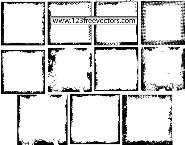 Grunge Photo Frames Vector | Download Free Vector Art | Free-Vectors
