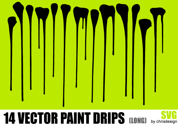 Paint Drips Vector