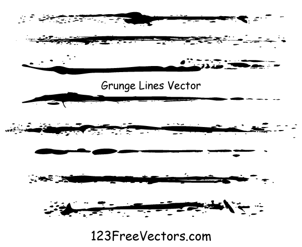 Line Art Vector Free Download : Grunge lines vector illustrator download free art