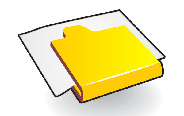 Folder Icon with Paper Free Vector