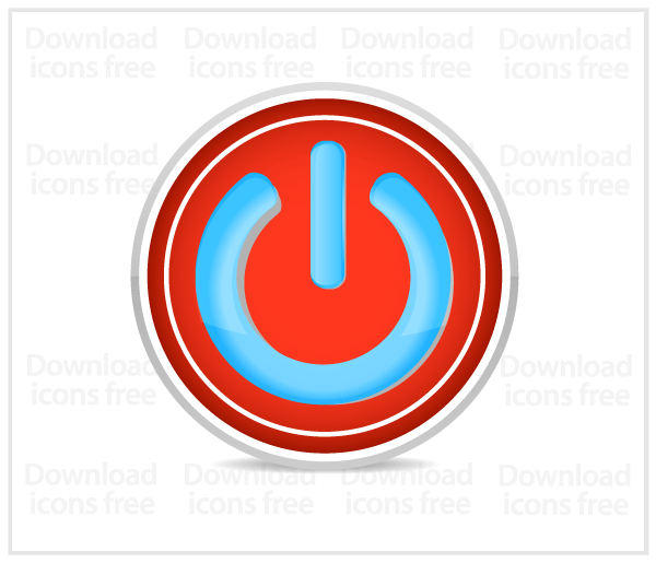 Power Button Icon Free Vector Image