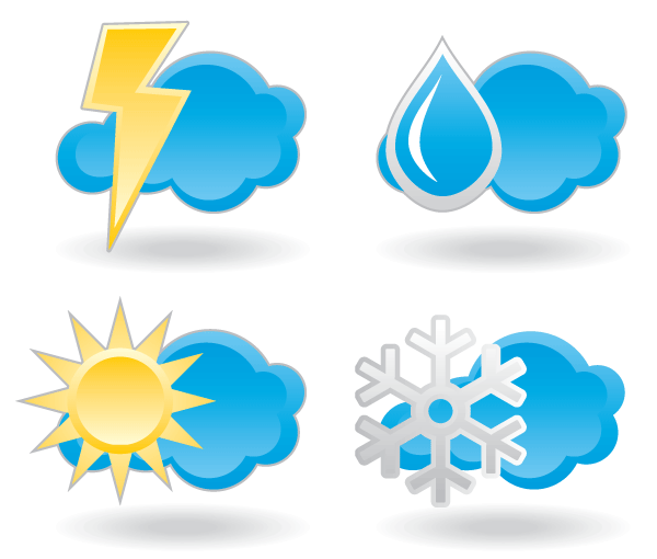 Free Weather Icons Vector Set