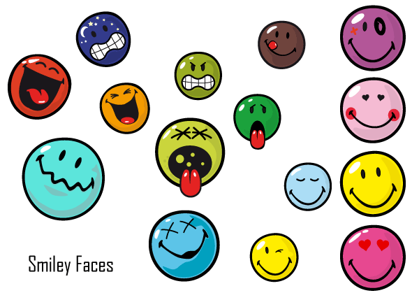 Smiley Face Free Vector Pack Download Free Vector Art Free Vectors