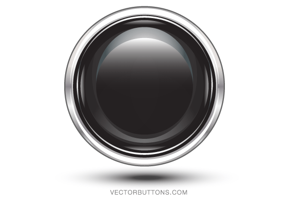Platinum Black Circle Button Vector Download Free Vector