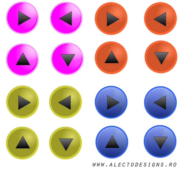 Glass Effect Round Button Vector