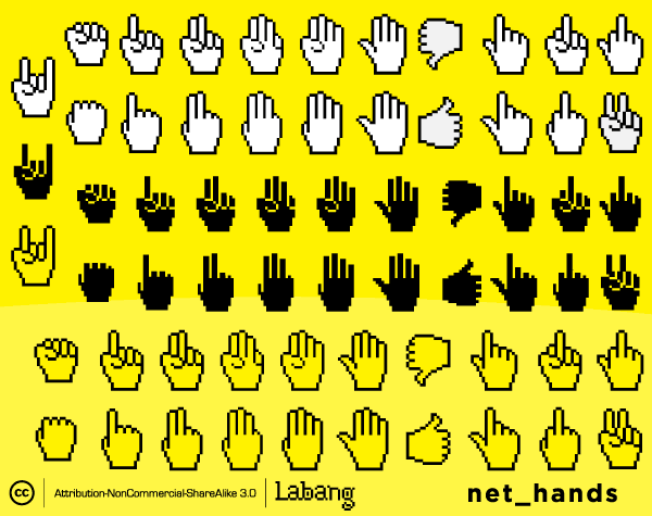 Web Icons: Hands Icons Vector Set