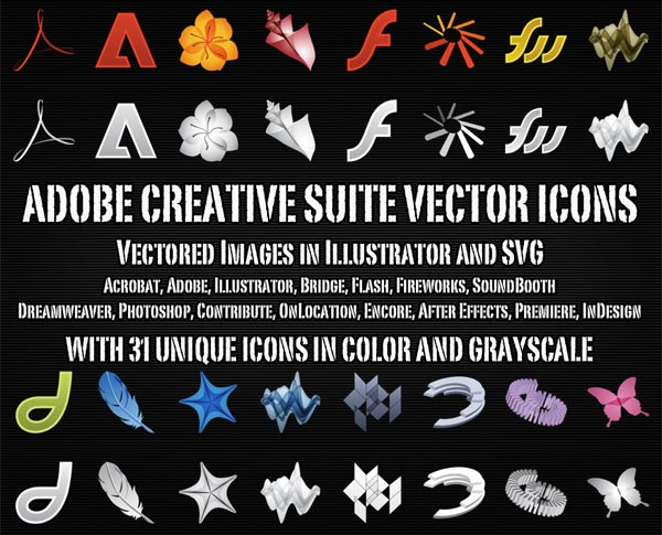 Vector Adobe Creative Suite Icons | Download Free Vector Art | Free