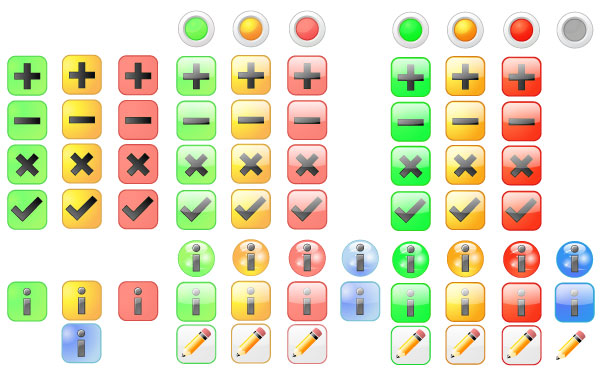 Vector Basic Icons Set