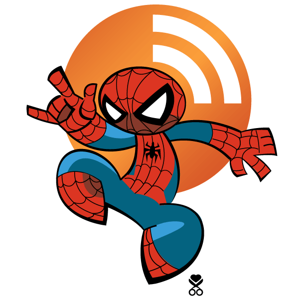 Spiderman RSS Icon Vector