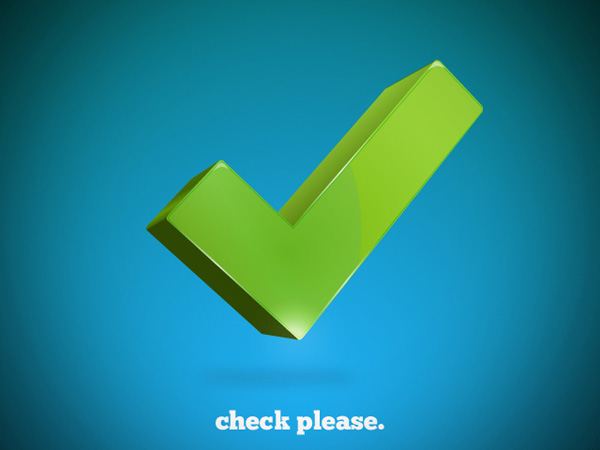 Vector 3d Check Mark