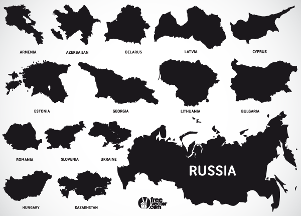 Europe Map Vectors Of European And Eurasian Countries Download - Lithuania map vector