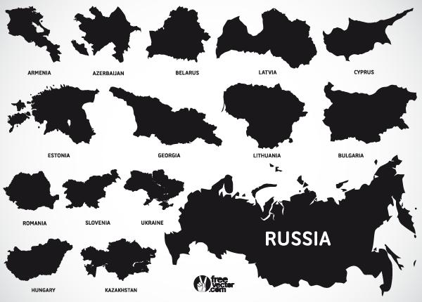Europe Map Vectors Of European And Eurasian Countries Download - Estonia map download