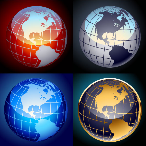 Earth globe free vector set download free vector art free vectors earth globe free vector set gumiabroncs Choice Image