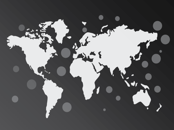 World Map Black Vector