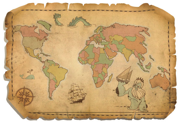 Antique world map vector free download free vector art free vectors antique world map vector free gumiabroncs Images