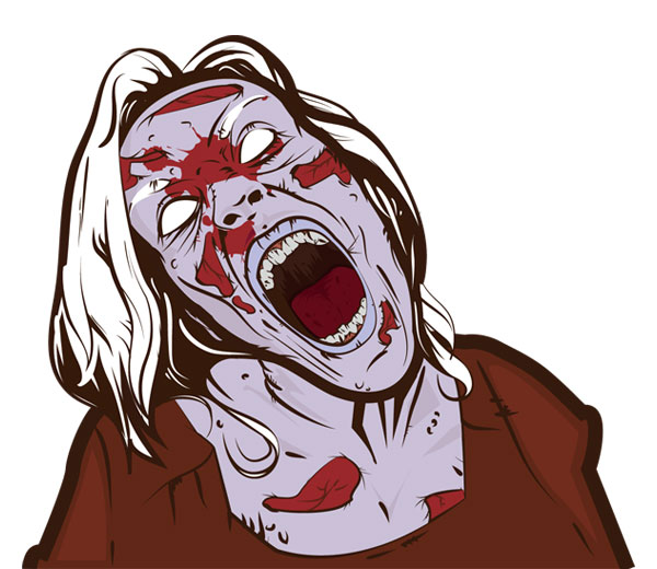 Scary Zombie Girl Free Vector